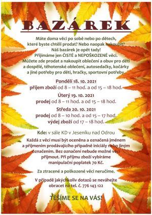 Bazárek v Jeseníku nad Odrou