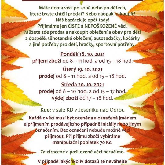 Bazárek v Jeseníku nad Odrou 1