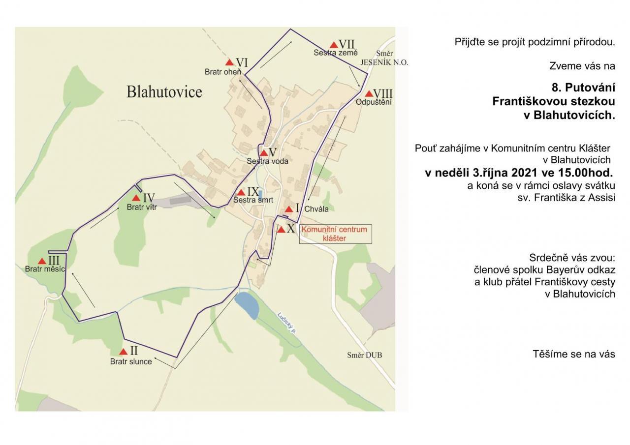 8. Putování Františkovou cestou v Blahutovicích