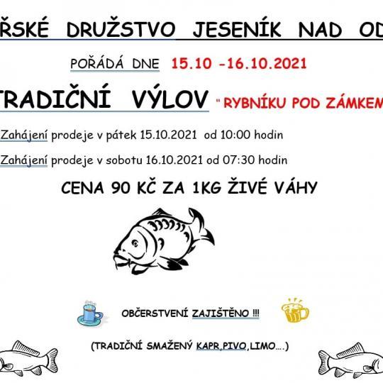 """Výlov rybníku """"POD ZÁMKEM"""" v Jeseníku nad Odrou 1"""